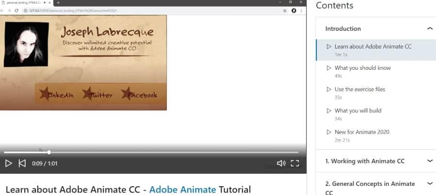 3. Learning Adobe Animate CC (LinkedIn Learning)