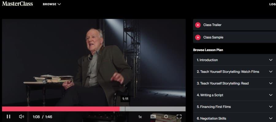 3. Werner Herzog Teaches Filmmaking (MasterClass)