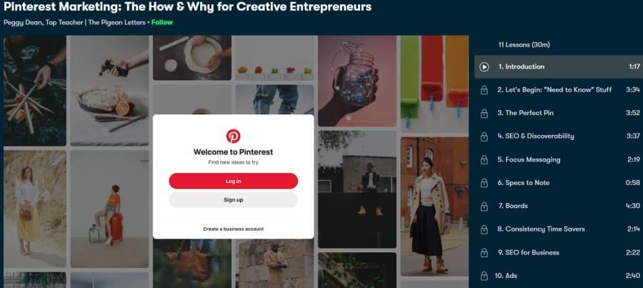 4. Pinterest Marketing The How & Why for Creative Entrepreneurs (Skillshare)
