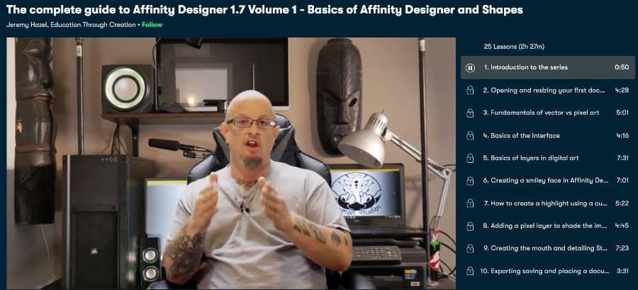 4. The complete guide to Affinity Designer 1.7 Volume 1 - Basics of Affinity Designer and Shapes (Sk