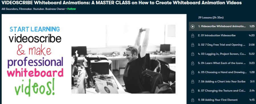 4. VIDEOSCRIBE Whiteboard Animations A MASTER CLASS on How to Create Whiteboard Animation Videos (Skillshare)
