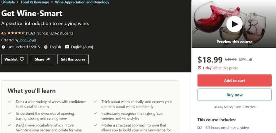 5. Get Wine-Smart (Udemy)