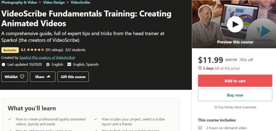 5. VideoScribe Fundamentals Training Creating Animated Videos (Udemy)