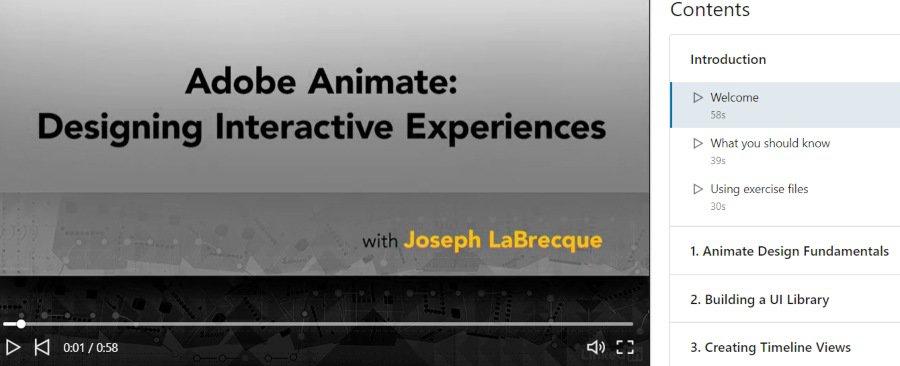 6. Adobe Animate Designing Interactive Experiences (LinkedIn Learning)