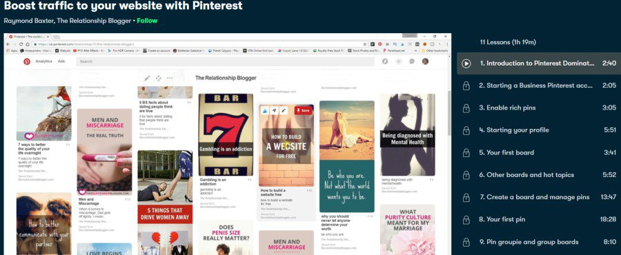 6. Boost traffic to your website with Pinterest (Skillshare)