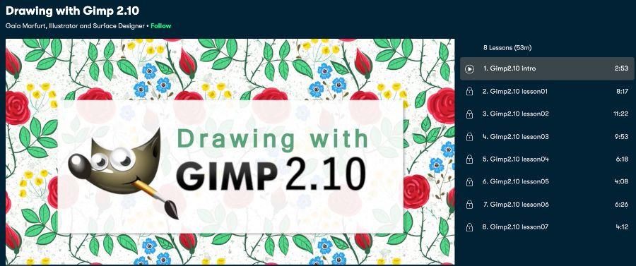 6. Drawing with Gimp 2.10 (Skillshare)