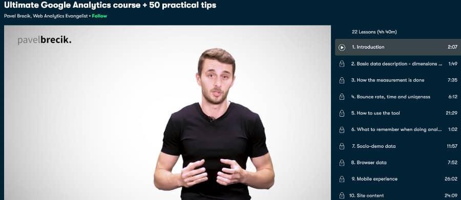 6. Ultimate Google Analytics course + 50 practical tips (Skillshare)