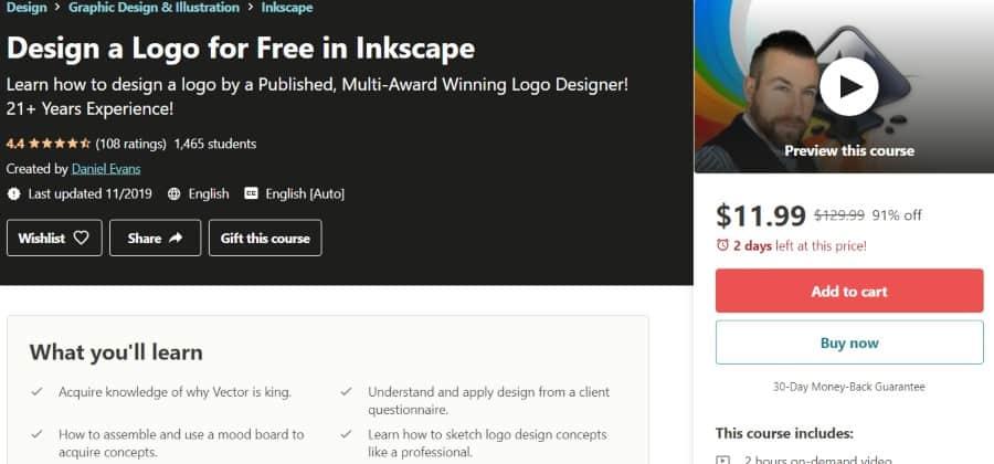 7. Design a Logo for Free in Inkscape (Udemy)
