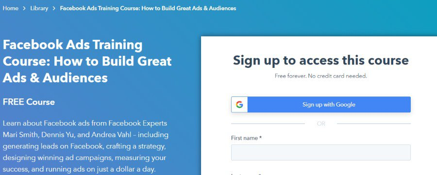 7. Facebook Ads Training Course How to Build Great Ads & Audiences (HubSpot Academy)