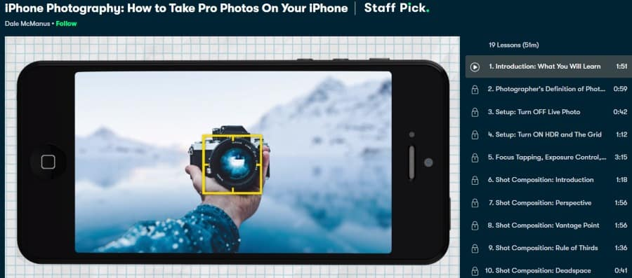 7. iPhone Photography How to Take Pro Photos On Your iPhone (Skillshare)