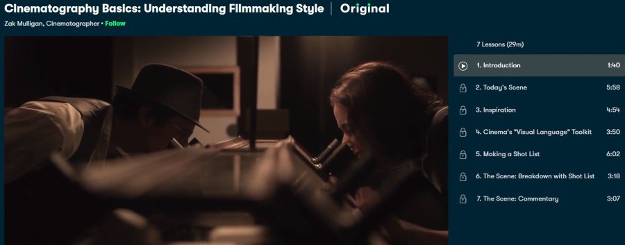 8. Cinematography Basics Understanding Filmmaking Style (Skillshare)