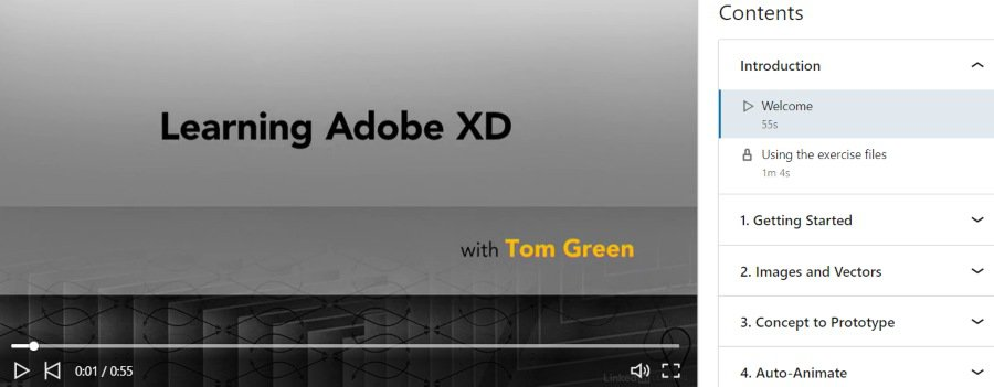 8. Learning Adobe XD (LinkedIn Learning)