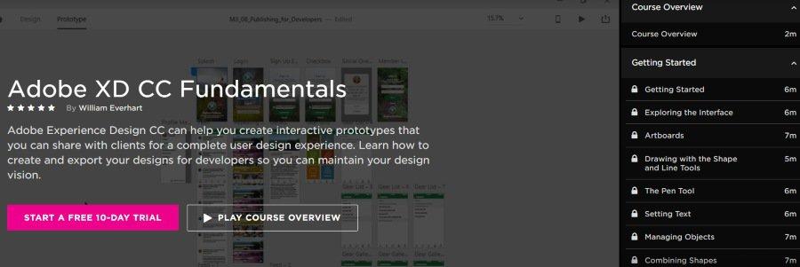 9. Adobe XD CC Fundamentals (Pluralsight)