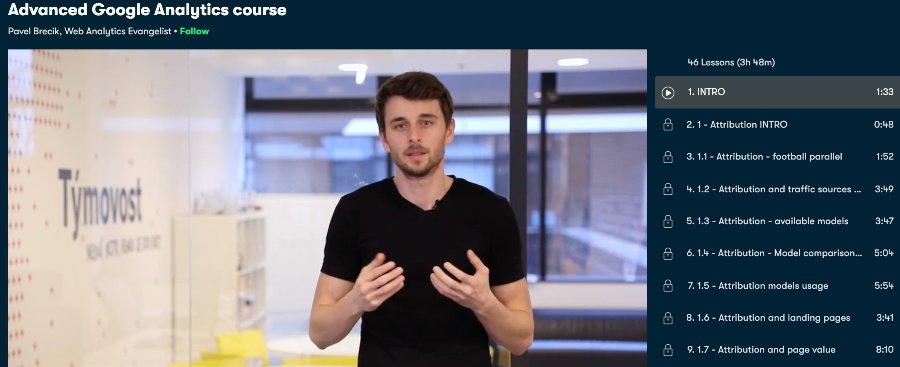 9. Advanced Google Analytics course (Skillshare)