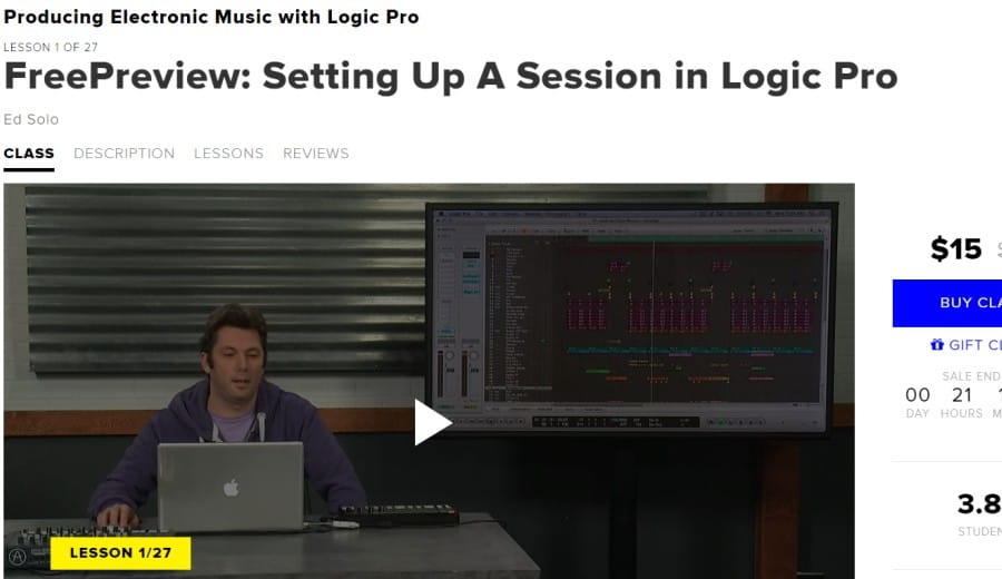 9. Producing Electronic Music with Logic Pro (CreativeLive)