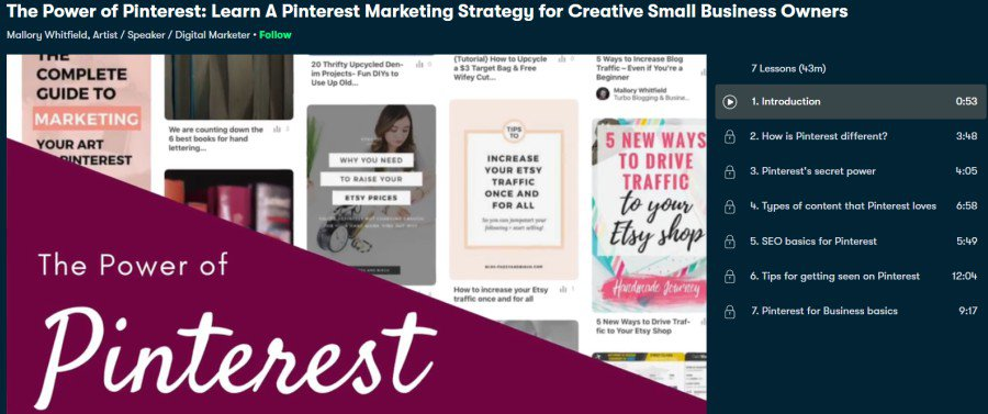 9. The Power of Pinterest Learn A Pinterest Marketing Strategy for Creative Small Business Owners