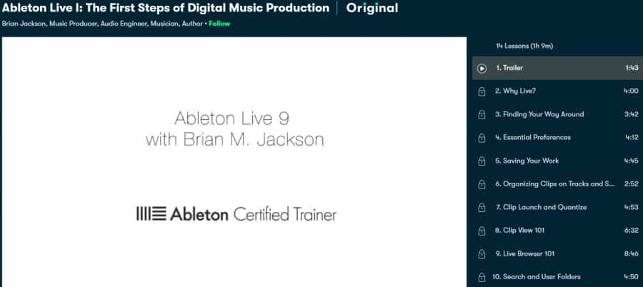 Ableton Live I The First Steps of Digital Music Production (Skillshare)