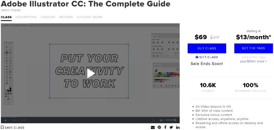 Adobe Illustrator CC The Complete Guide (CreativeLive)