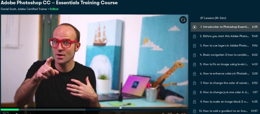 Adobe Photoshop CC – Essentials Training Course (Skillshare)