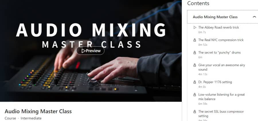 Audio Mixing Master Class (LinkedIn Learning)