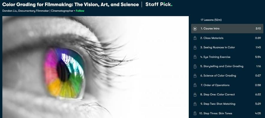 Color Grading for Filmmaking_ The Vision, Art, and Science (Skillshare)