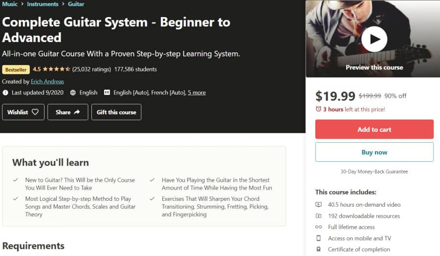 Complete Guitar System - Beginner to Advanced