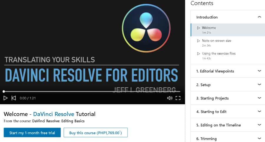 DaVinci Resolve Editing Basics (LinkedInLearning)