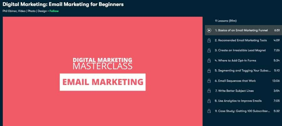 Digital Marketing Email Marketing for Beginners (Skillshare)