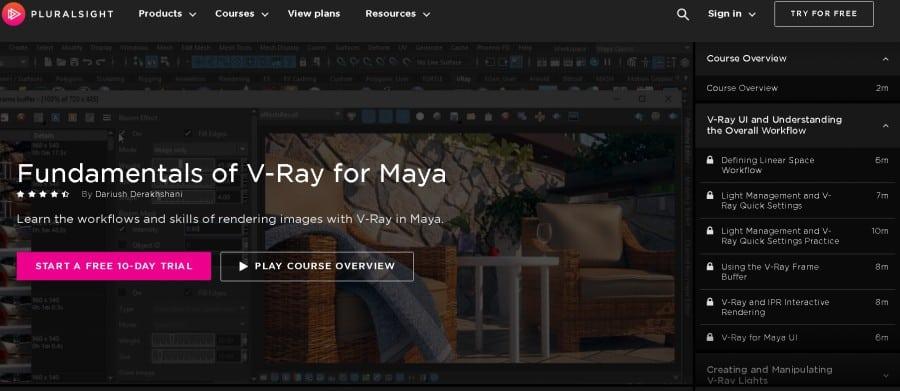 Fundamentals of V-Ray for Maya (PluralSight)
