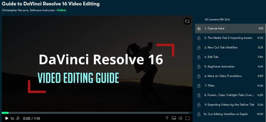 Guide to DaVinci Resolve 16 Video Editing (Skillshare)