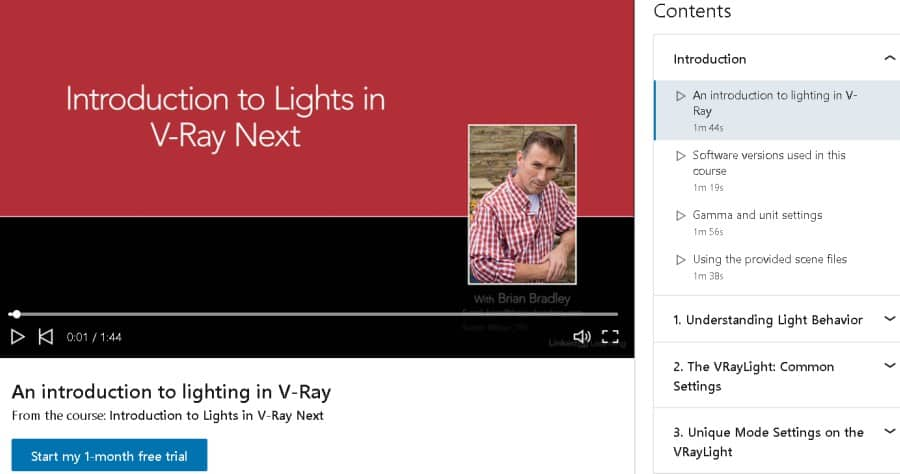 Introduction To Lights In V-Ray Next (LinkedIn Learning)