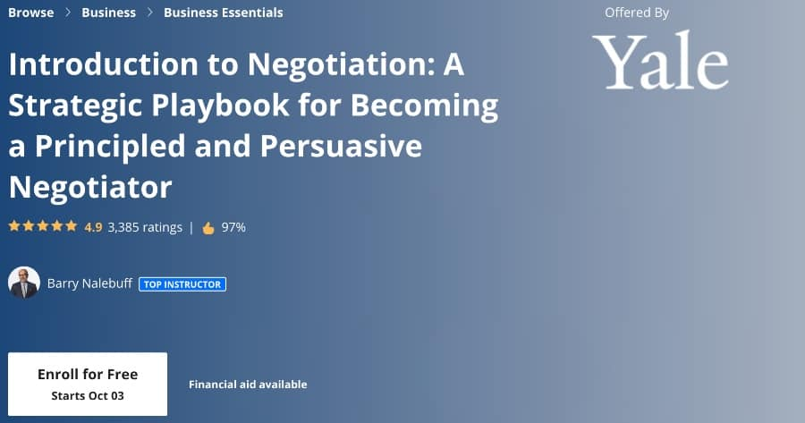 Introduction to Negotiation (Coursera)