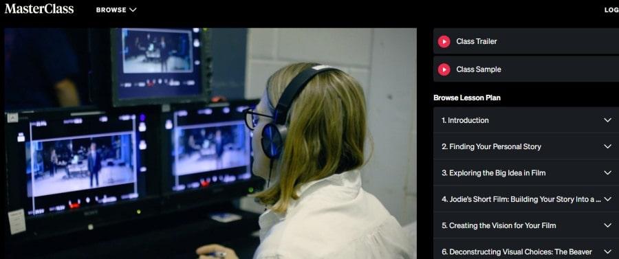 5. Jodie Foster Teaches Filmmaking (MasterClass)