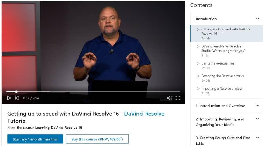 Learning DaVinc iResolve 16 (LinkedInLearning)