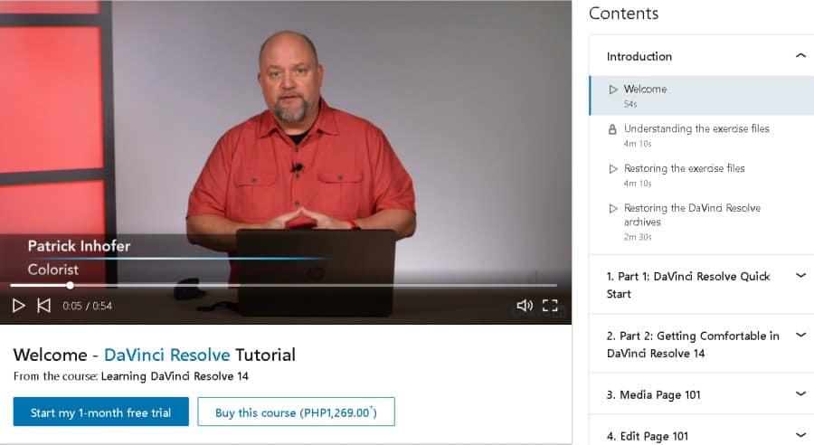 Learning DaVinci Resolve 14 (LinkedIn Learning)