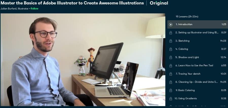 Master the Basics of Adobe Illustrator to Create Awesome Illustrations (Skillshare)
