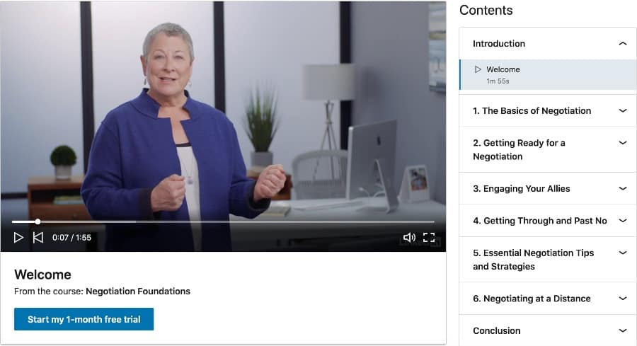 Negotiation Foundations (LinkedIn Learning)