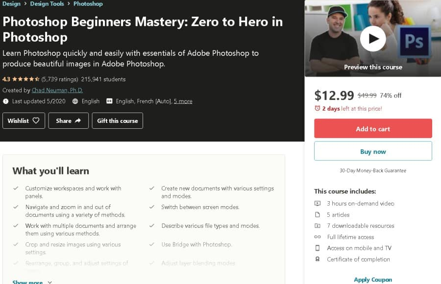 Photoshop Beginners Mastery Zero to Hero in Photoshop (Udemy)