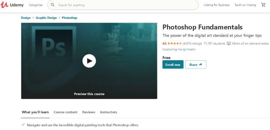 Photoshop Fundamentals (Udemy)