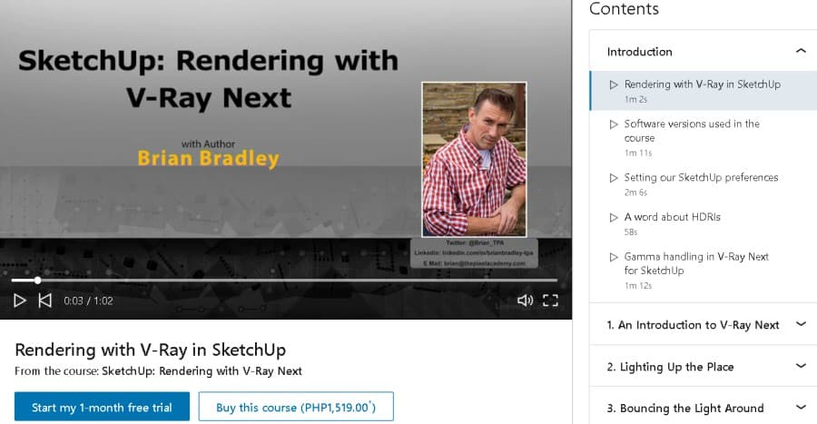 SketchUp Rendering with V-Ray Next (LinkedIn Learning)