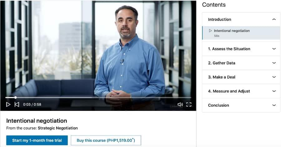 Strategic Negotiation (LinkedIn Learning)