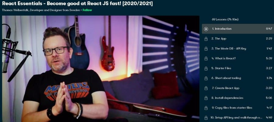 1. React Essentials - Become good at React JS fast! [2020_2021] (Skillshare)
