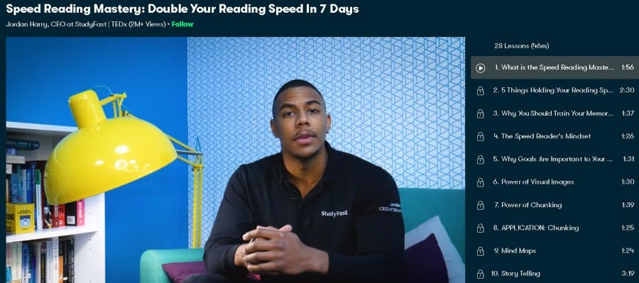 1. Speed Reading Mastery Double Your Reading Speed In 7 Days (Skillshare)