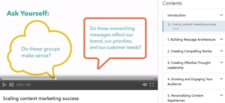 10. Advanced Content Marketing (LinkedIn Learning)