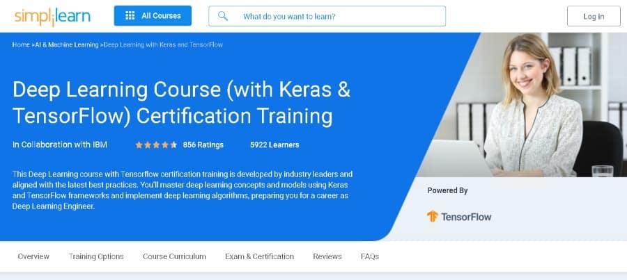 10. Deep Learning Course (with Keras & TensorFlow) Certification Training (Simplilearn)