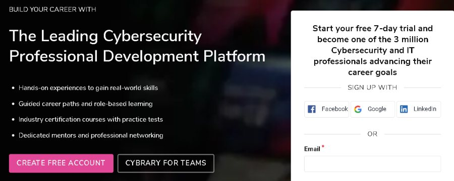 10. The Cybersecurity Training and IT Career Development Platform (Cybrary)