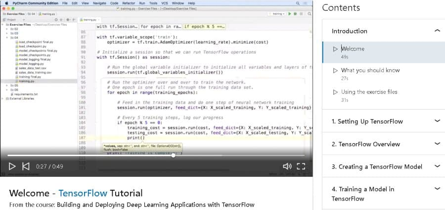 2. Building and Deploying Deep Learning Applications with TensorFlow (LinkedIn Learning)