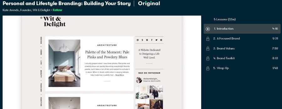 2. Personal and Lifestyle Branding Building Your Story (Skillshare)