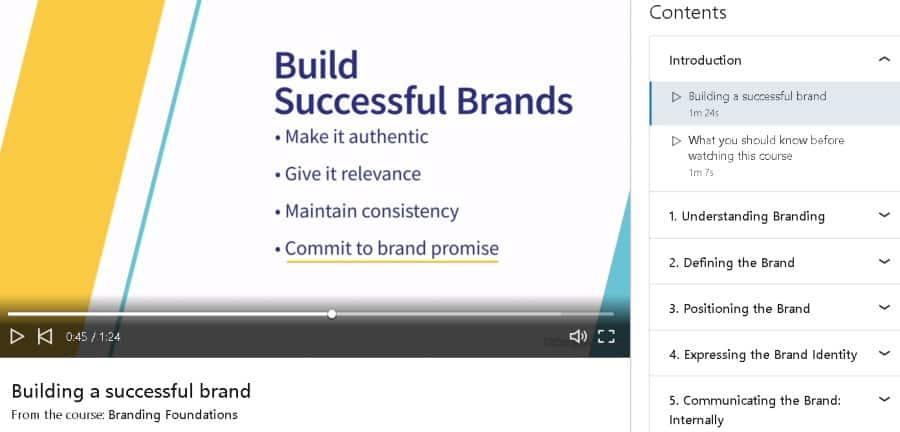 3. Branding Foundations (LinkedIn Learning)