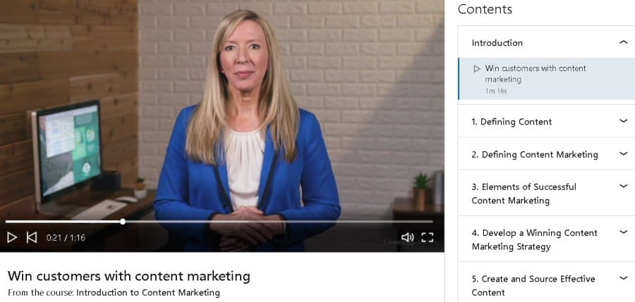 3. Introduction to Content Marketing (LinkedIn Learning)